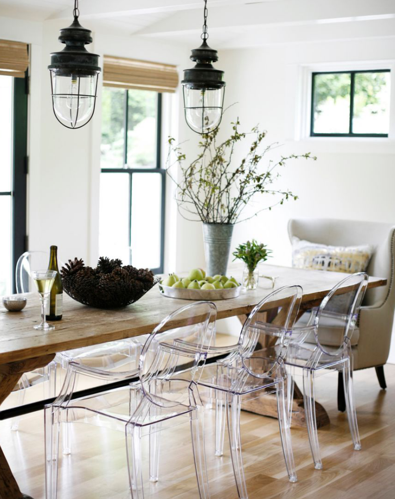 Natural Wood Dining Room Table View In Gallery