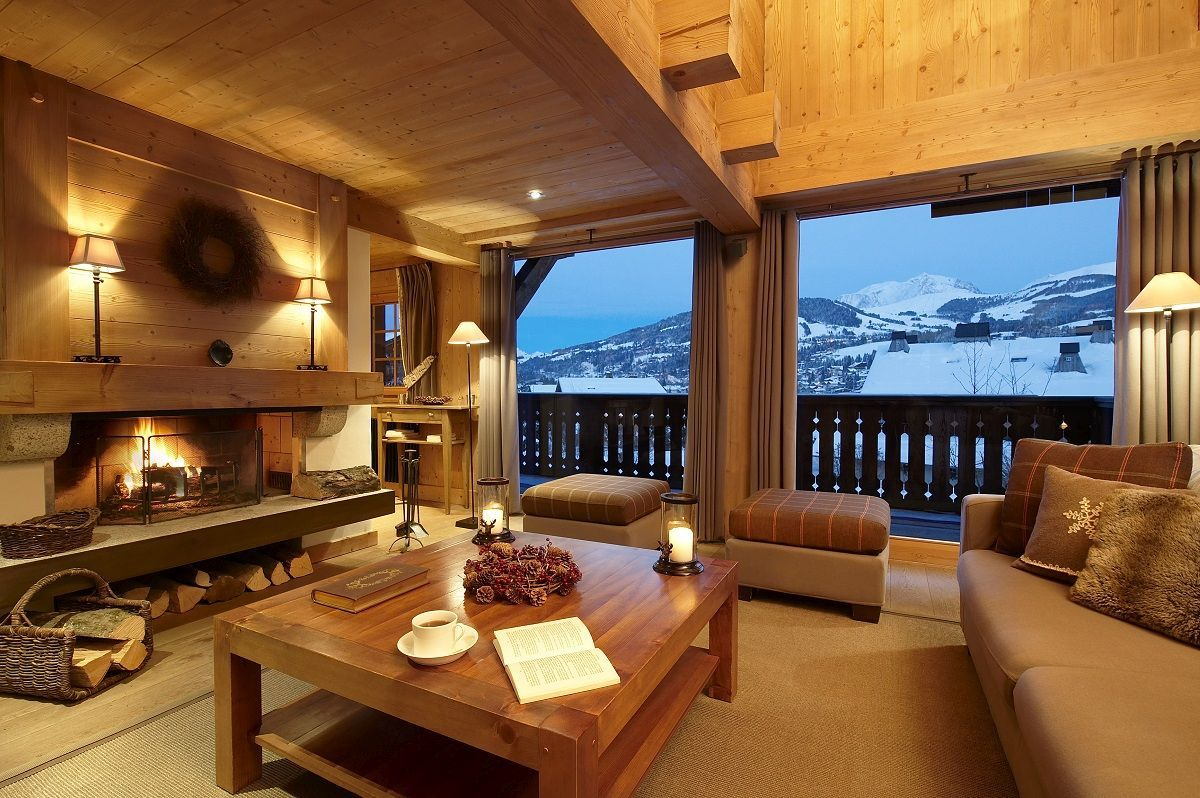 cozy chalets with the most amazing fireplace gathering spaces
