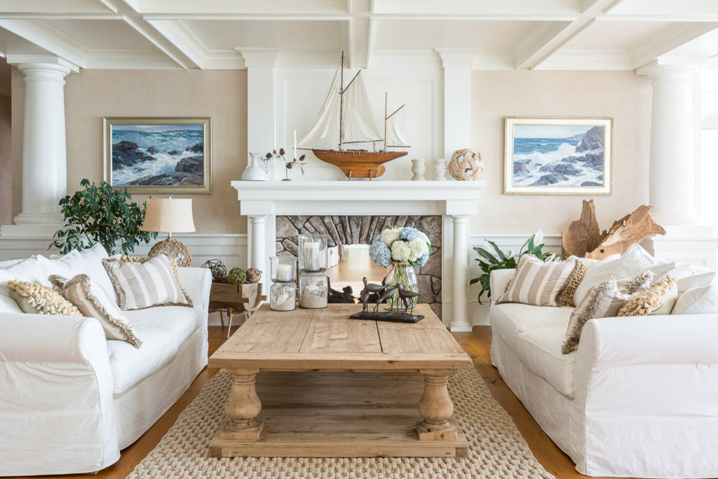 10 coffee tables that incorporate the rule of three - Beach themed living room ideas ...