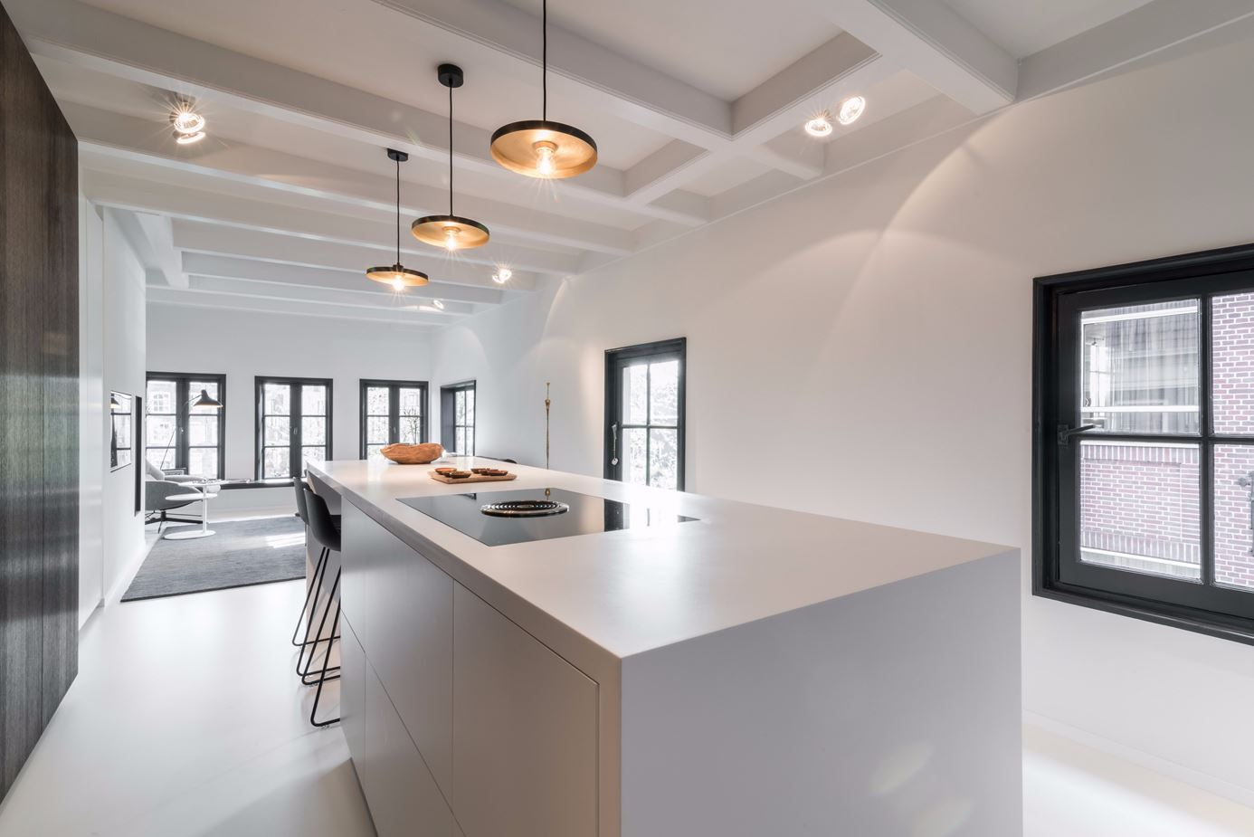 From any direction, the design of the space is clean and open.