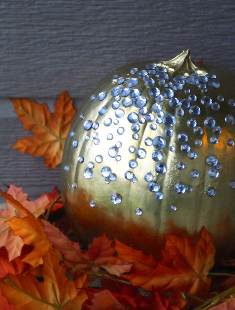 Bedazzled No-Carve Pumpkin