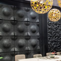 Black soundwave decorative panels