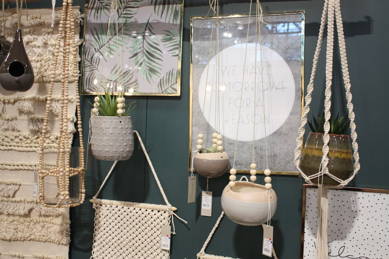 Bloomingville's hanging pots and wall pieces are textural and versatile.