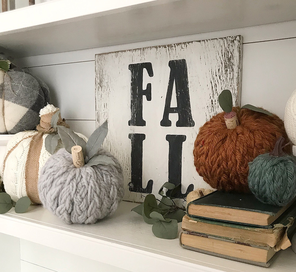 Braided Dollar Tree Pumpkins