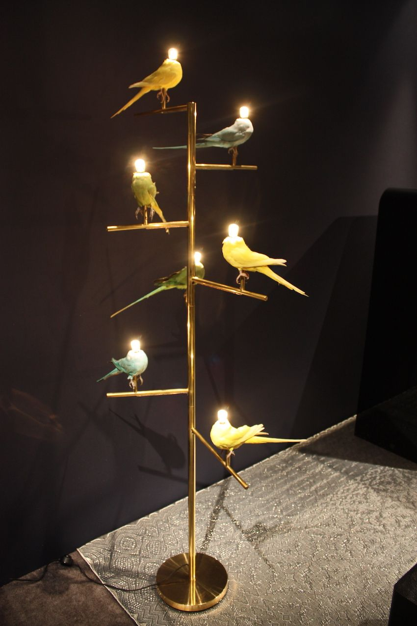 "This lamp is called ""Birds of a Feather."""