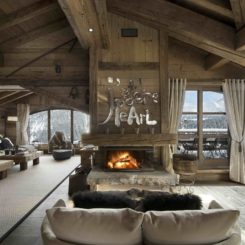 Chalet Pearl - Courchevel 1850, France Fireplace Living