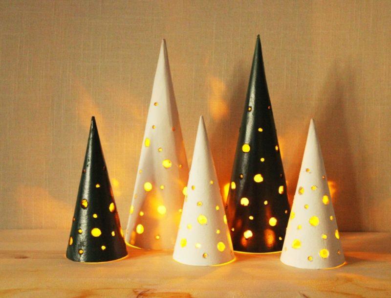 DIY Modern Tabletop Christmas Trees