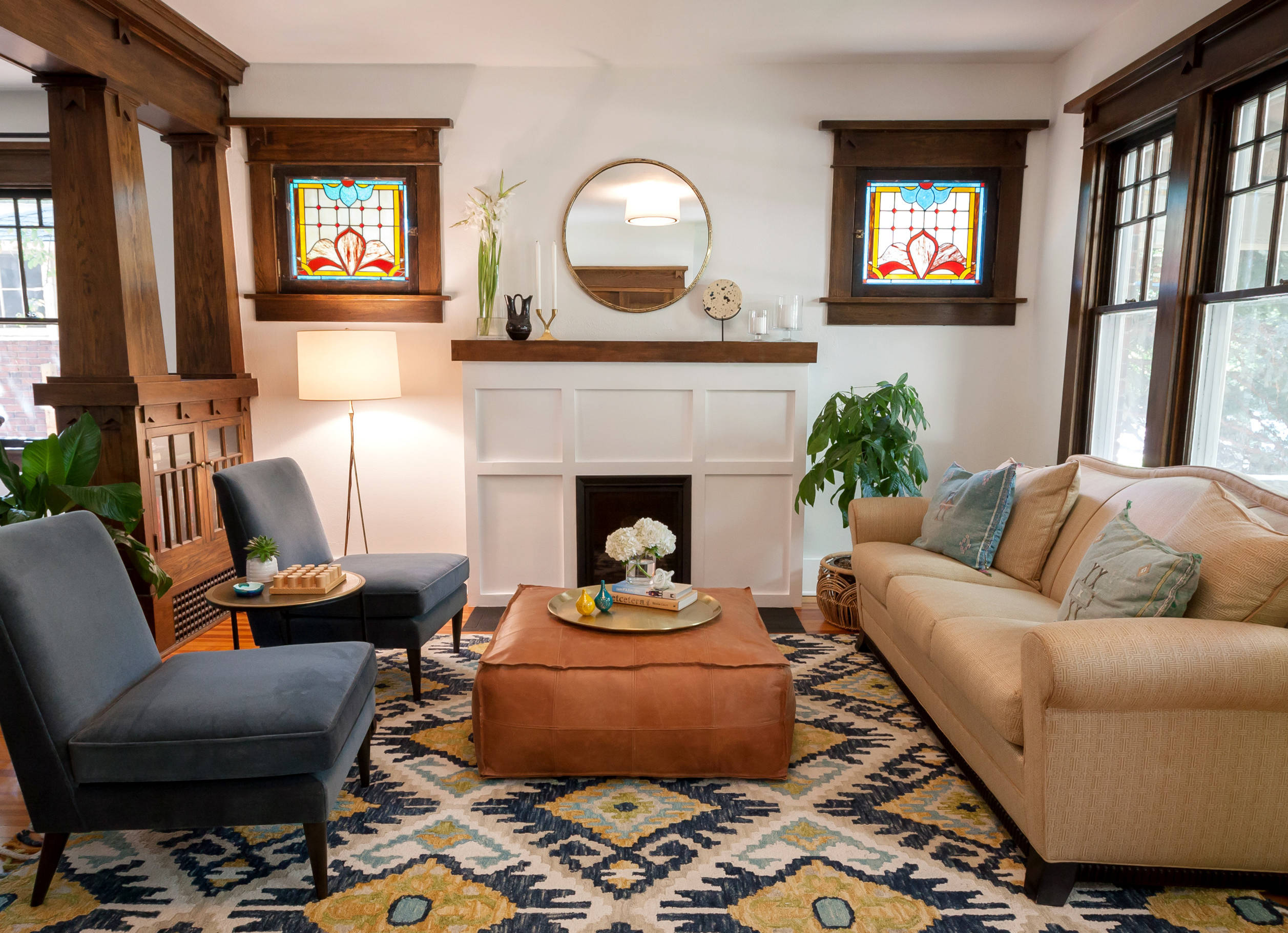 Everything you need to know about craftsman homes for Mission style decorating living room