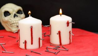 Craft Some Creepy Candles for Halloween