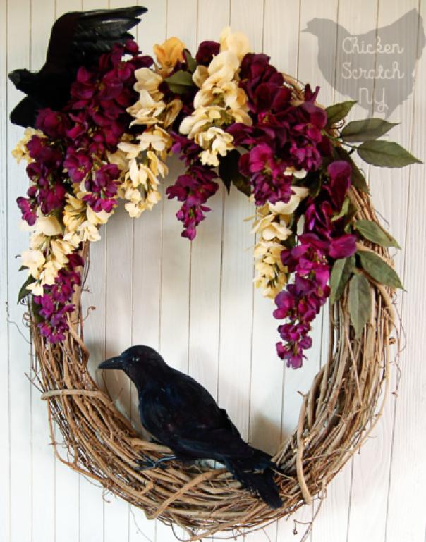 Crow Fall Wreath