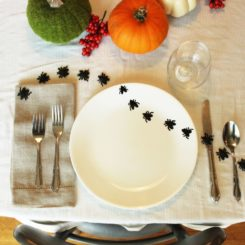 DIY Baked Insect Plates-Set the table with your fake insects