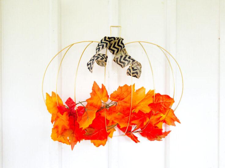 DIY Dollar Tree Pumpkin Wreath