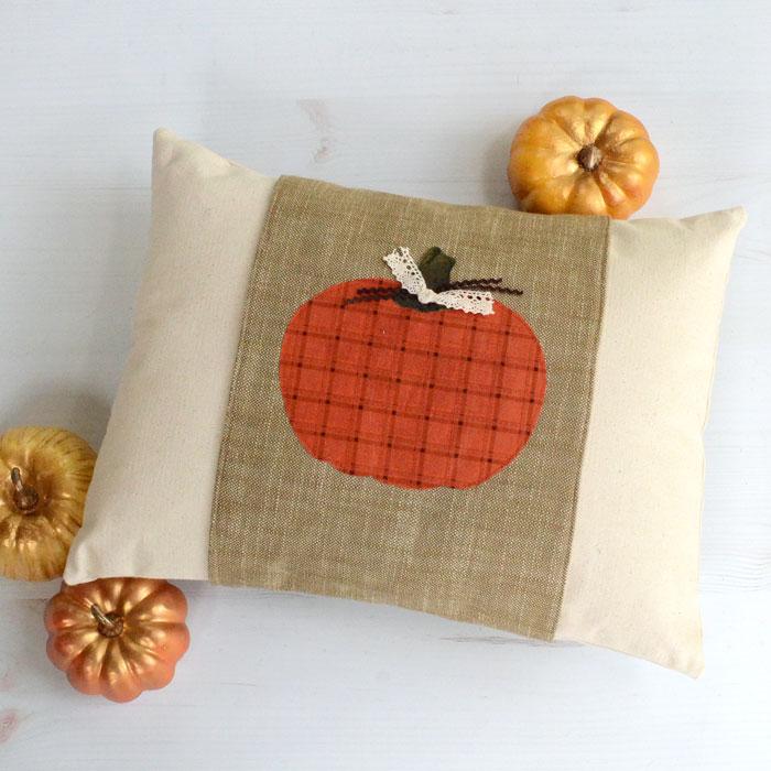 DIY Fall Pillow Wrap