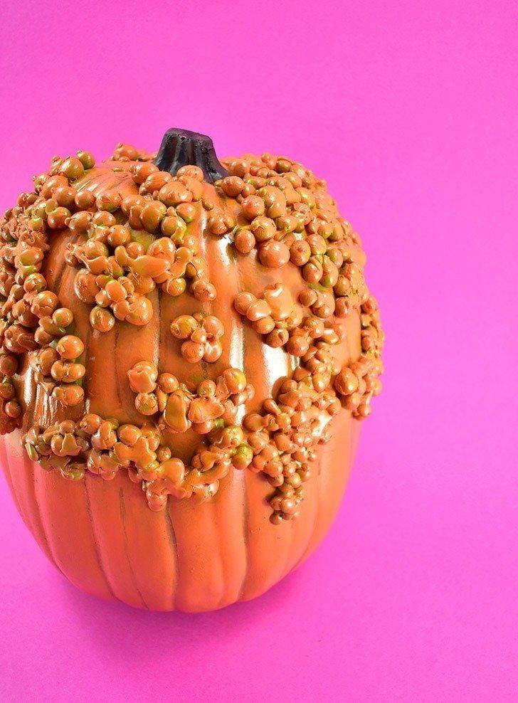 DIY Faux Warty Pumpkin