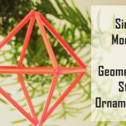 DIY Geometric Straw Prisms