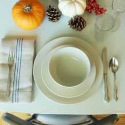 DIY Grain Sack Linen Napkin - for Thanksgiving