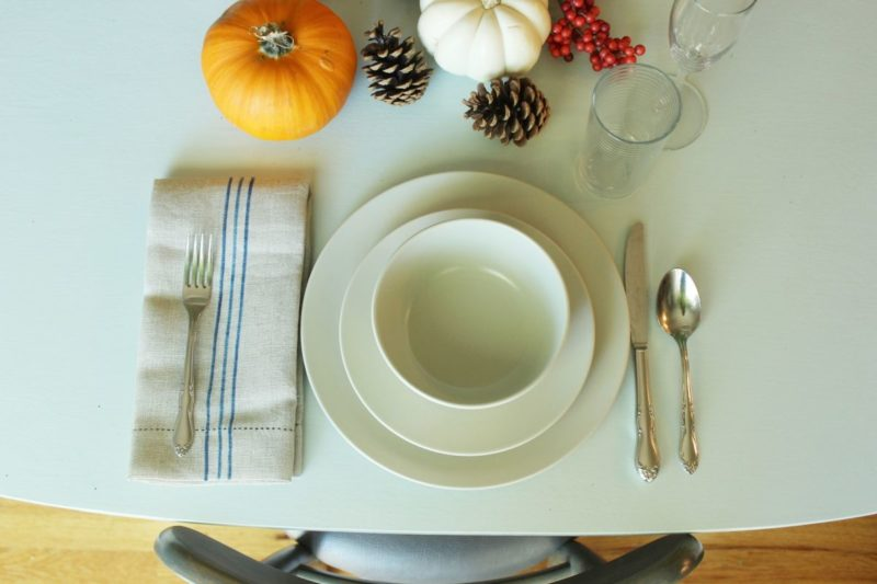 DIY Faux Grain Sack Linen Napkins