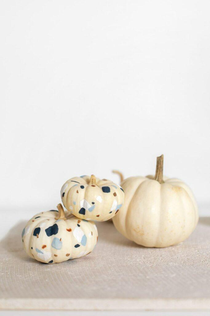 DIY Modern Tiny Terrazzo Pumpkins