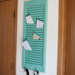 DIY Shutter Mail Holder