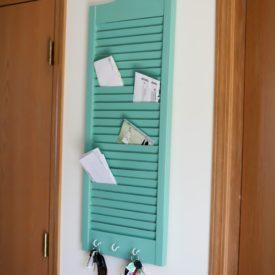 DIY Shutter Mail Holder