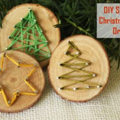 DIY String Art Ornaments