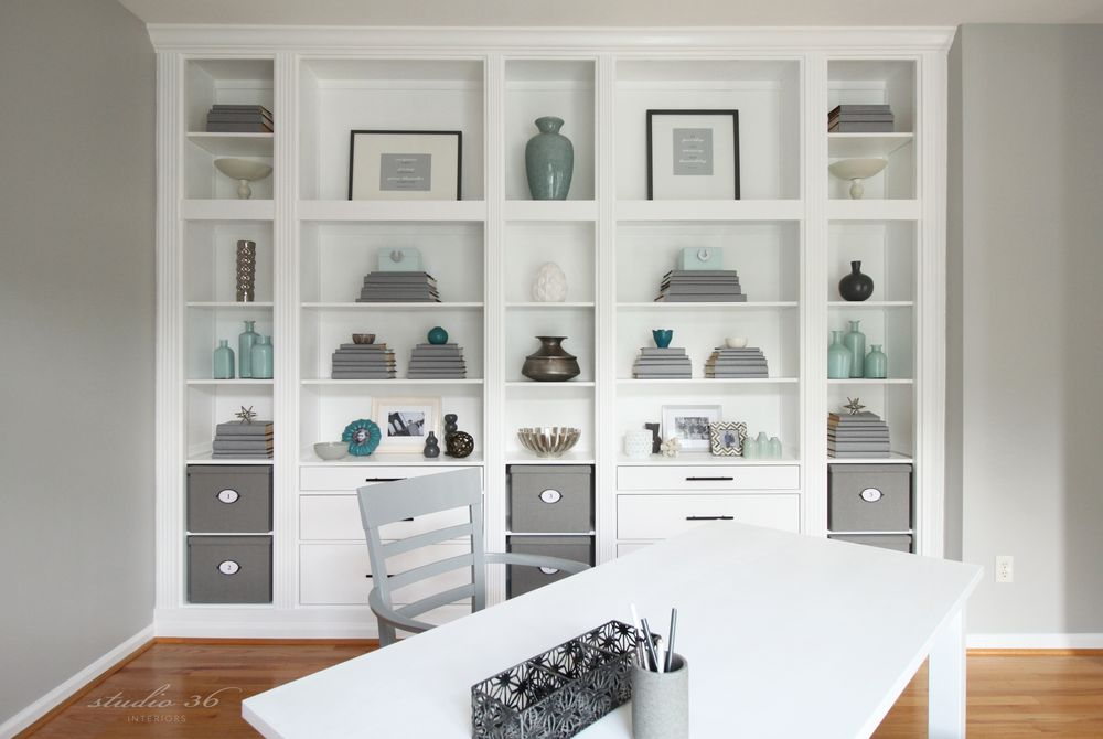 view in gallery - Built In Bookshelves Diy