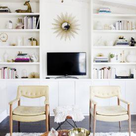 DIY built in tv shelves cabinets
