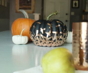 DIY Confetti Pumpkin for a Festive Halloween