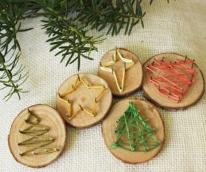 Nail String Art – DIY Christmas Tree Ornaments