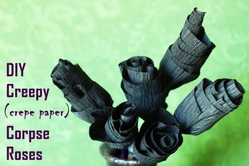 DIY Creepy Crepe Paper Corpse Roses