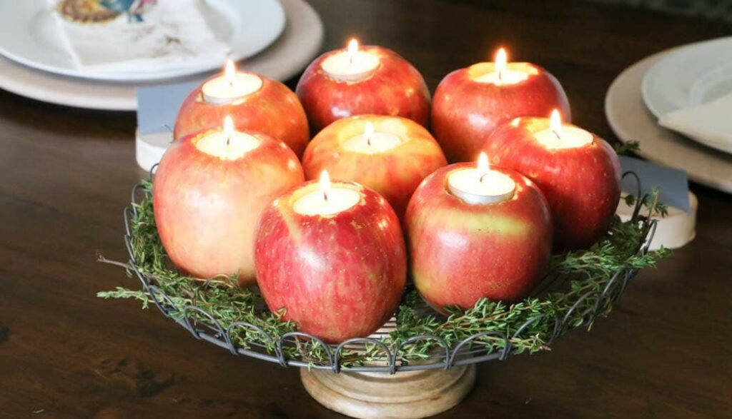 Fall Apple Candleholders