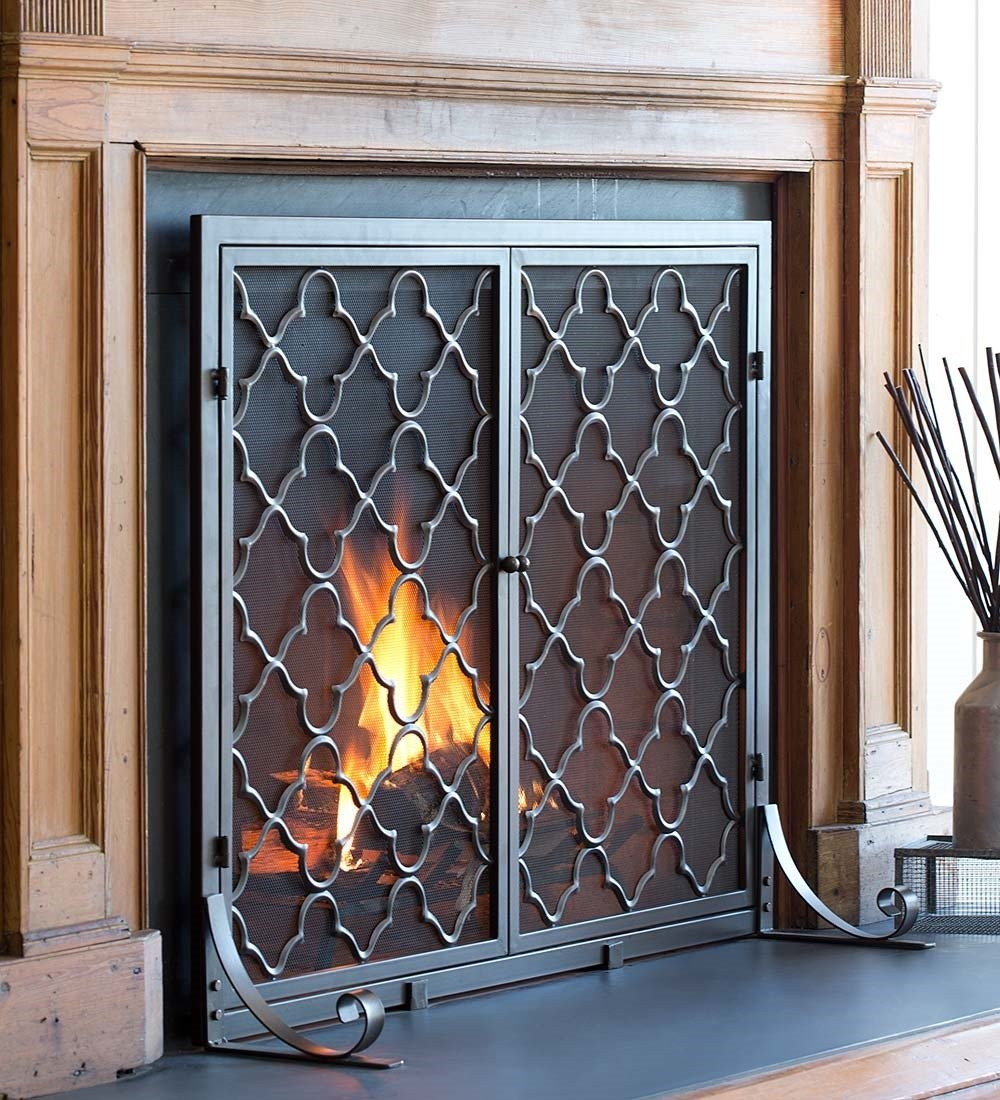10 fireplace screens with doors to upgrade your fireplace