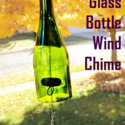 Glass Bottle Wind Chime