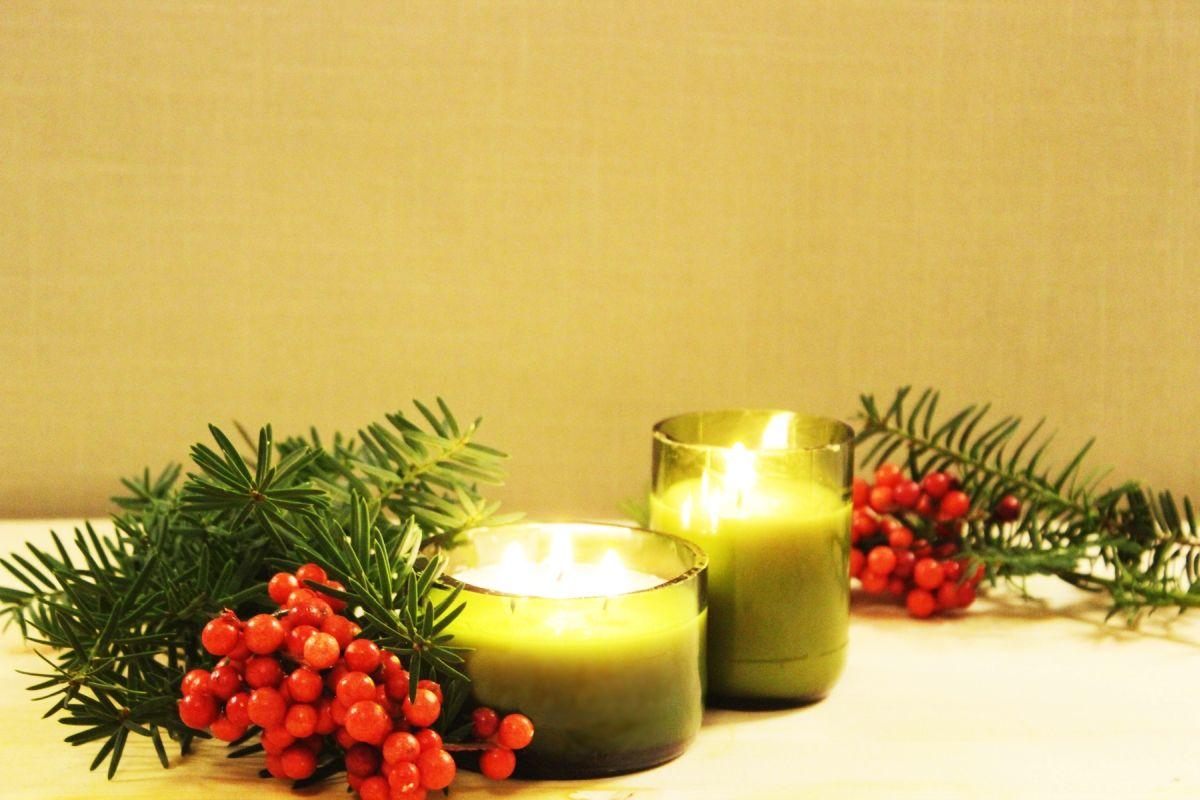 Diy Christmas Gift Idea Gl Bottle Candle
