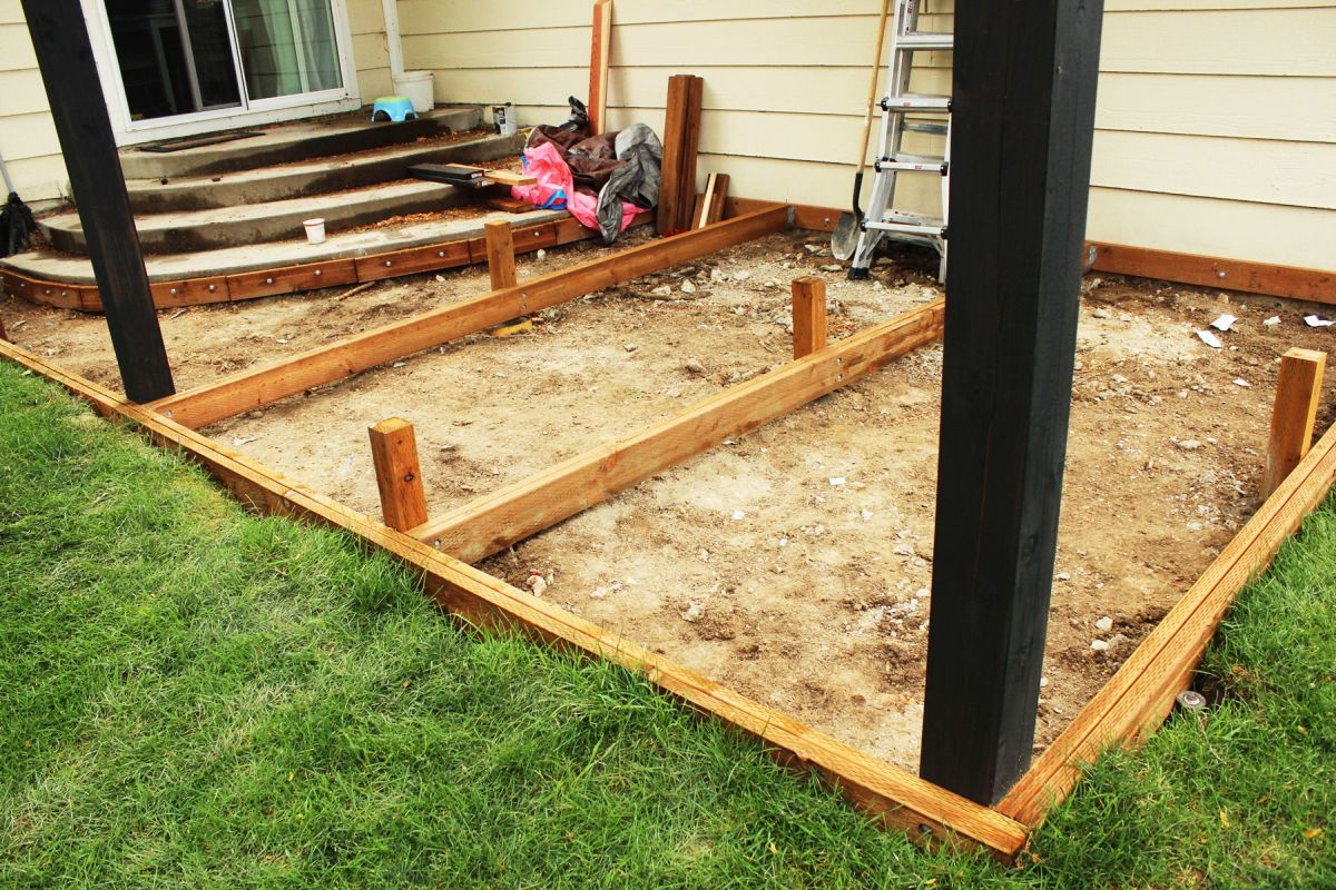 How to build a redwood deck a step by step guide from for Ready made decking frame