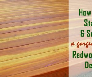 How to Stain and Seal a Redwood Deck