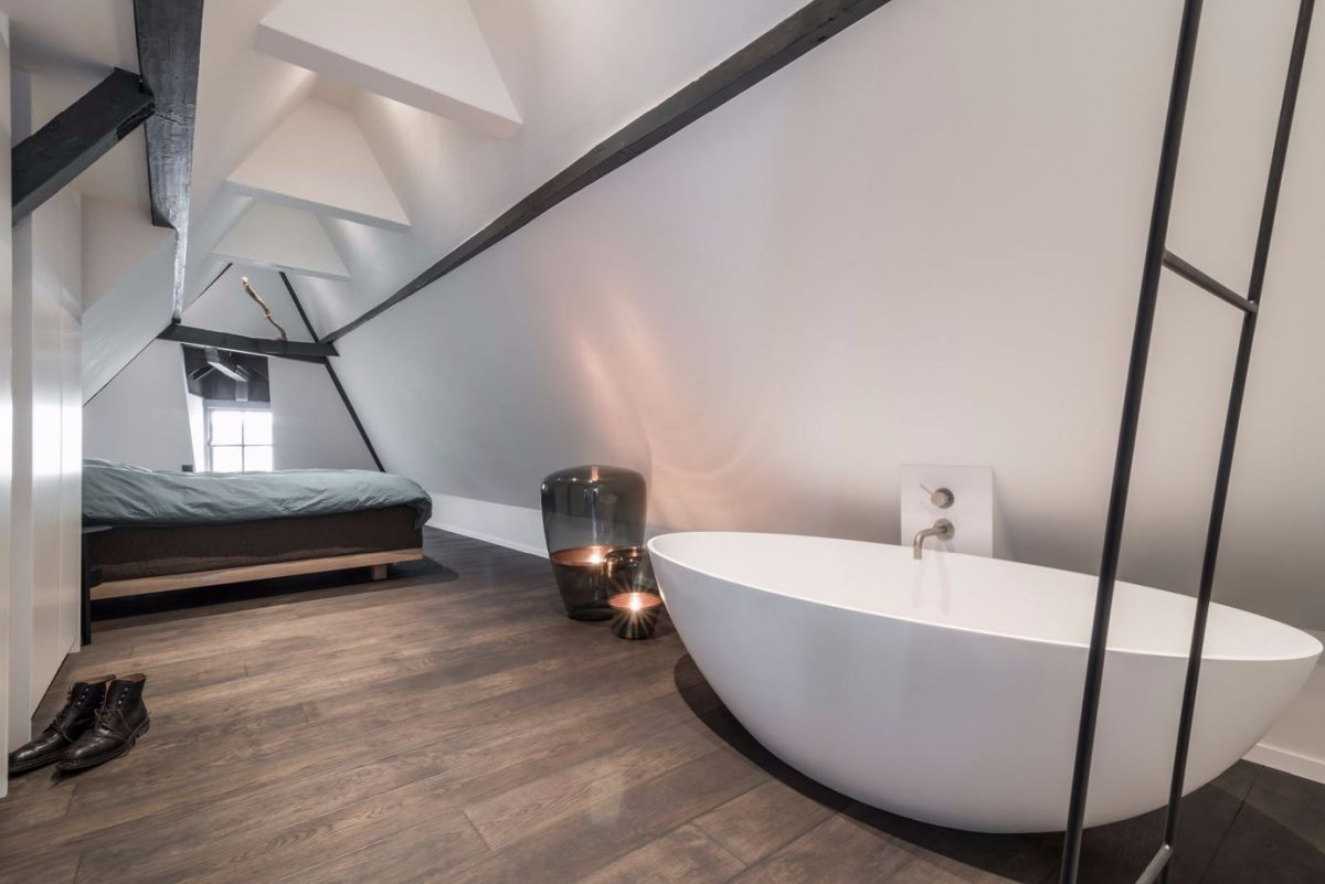Including this style of tub in the bedroom is becoming popular.