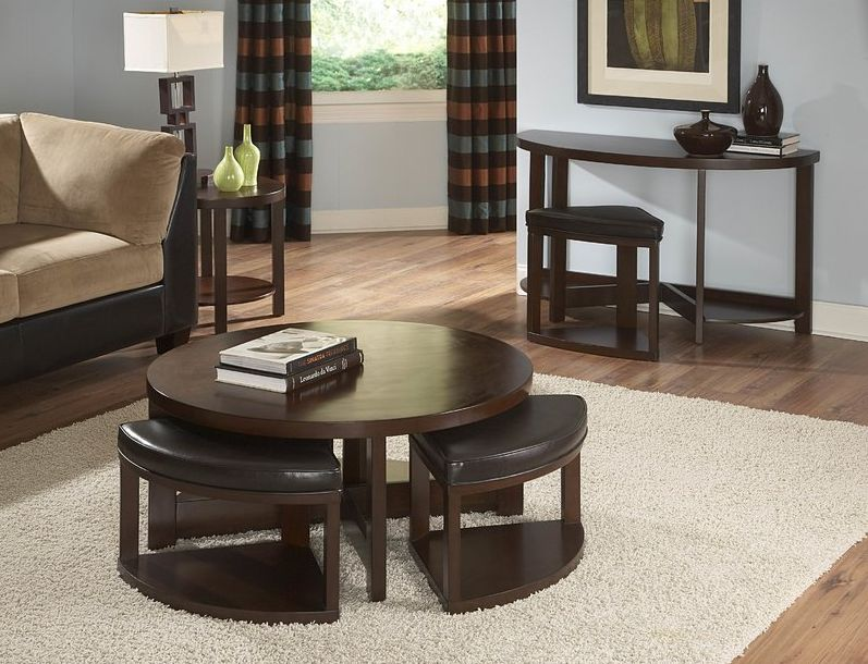 Coffee Table With Stools.Coffee Tables And Stool Sets That Guests Are Always Grateful For
