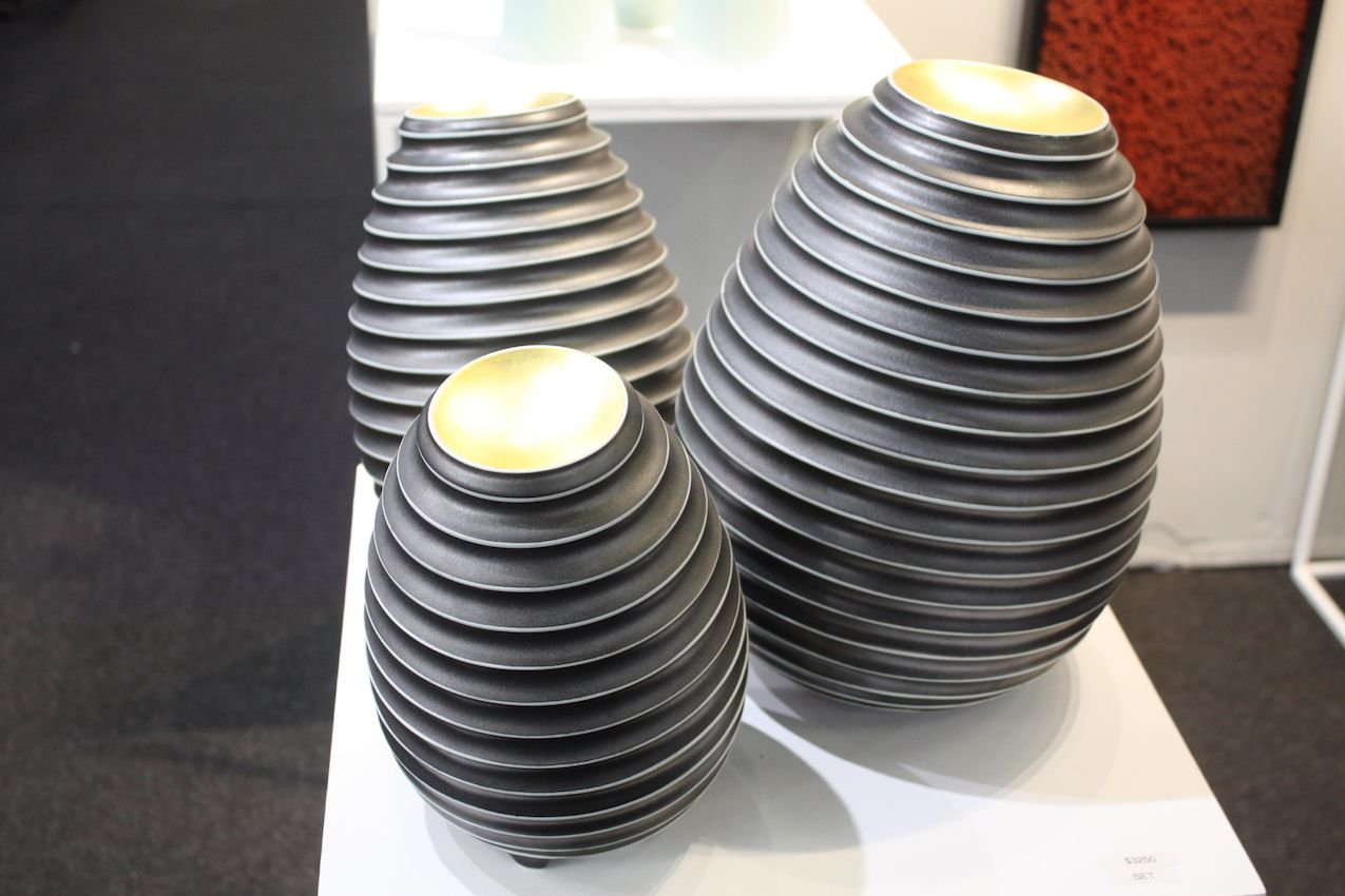 Ceramics don't have to look too crafty, as these modern pieces from Justin Teilheit demonstrate.