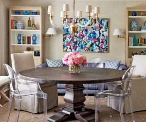 Inspiring Decors That Frame Round Pedestal Dining Tables