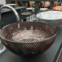 Luxury glass design italy wash basin design ideas
