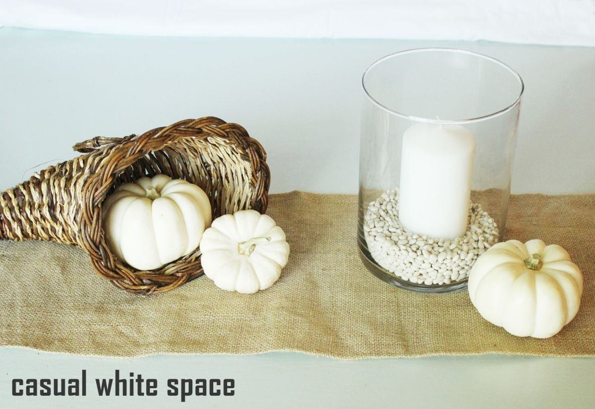 Maintain balance by keeping the two larger decorating items