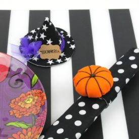 Make Pumpkin Napkin Rings and Witch Hat Place card Holders Project