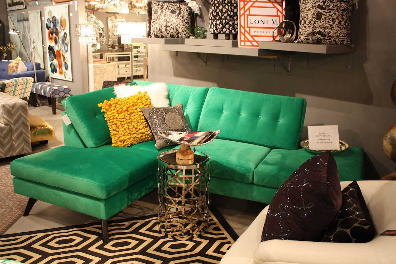 Emerald green is a wonderful color year round, and is one of the colors trending.