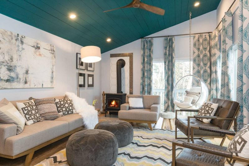 10 Living Rooms That Boast A Teal Color Part 71