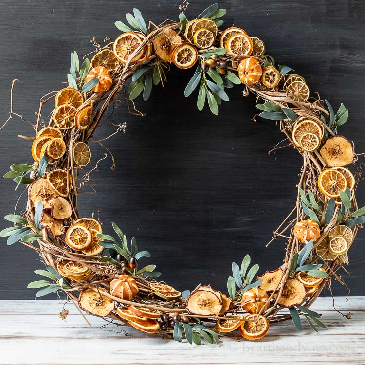 Natural Dried Fruit Wreath
