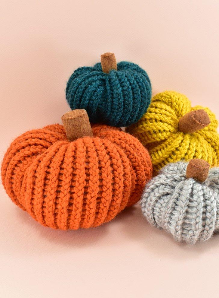 One Hour Loom Knit Pumpkins