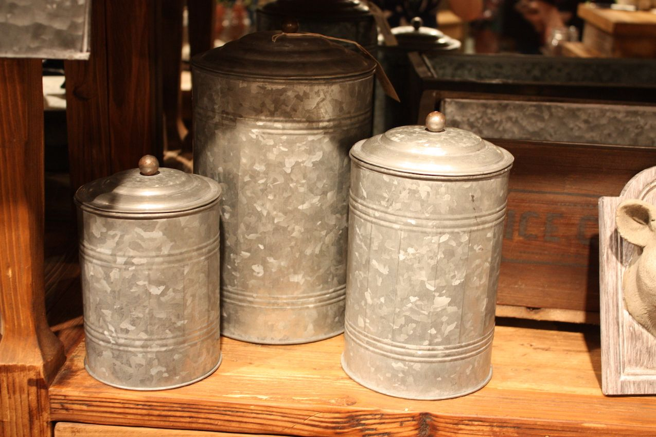 "These larger canisters from <a href=""http://parkhillcollection.com"">Park Hill</a> have a more old-fashioned style."