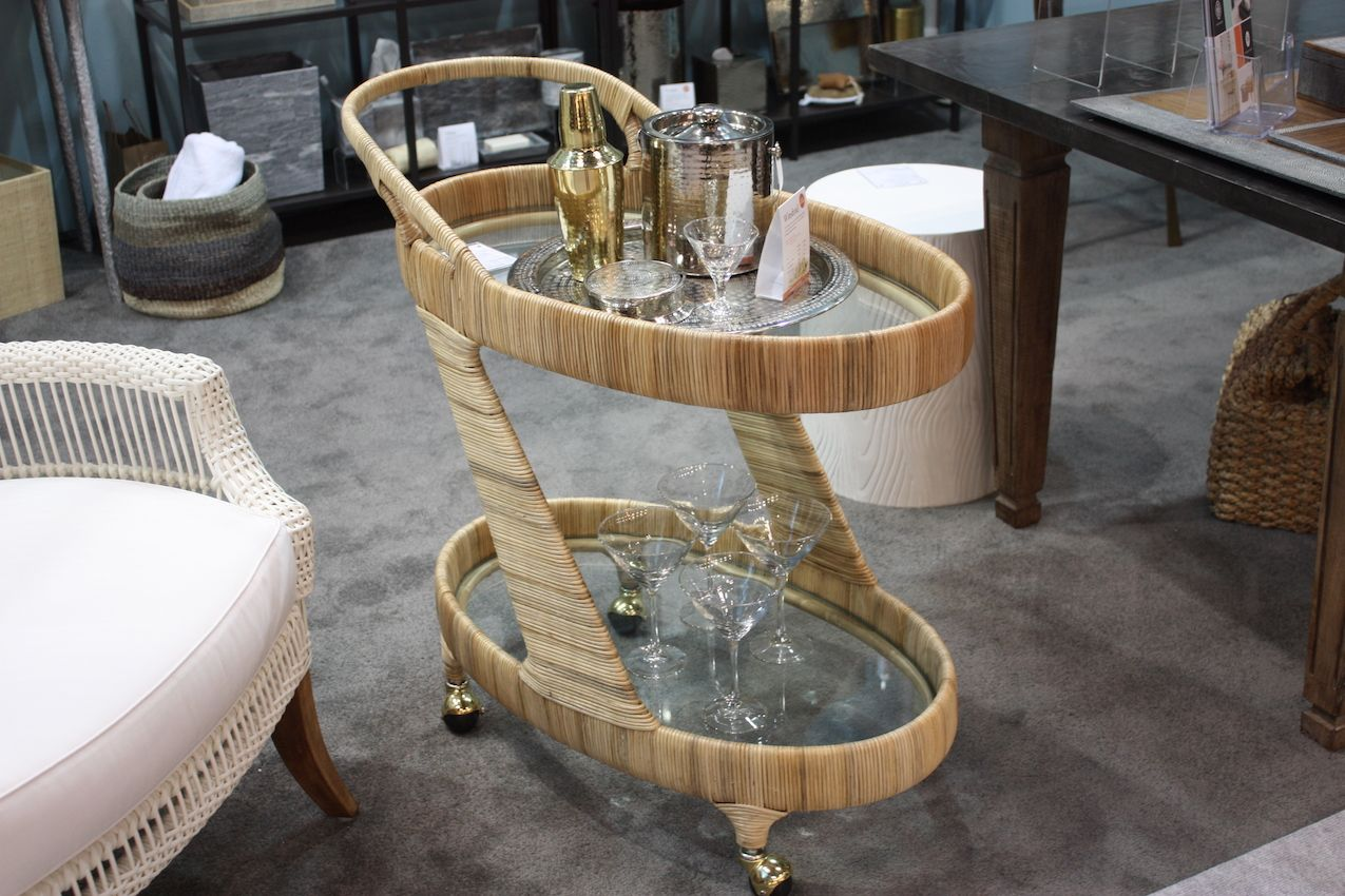 Today's bar carts originated in the Victorian era as tea trolleys.