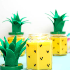 Pineapple candle DIY